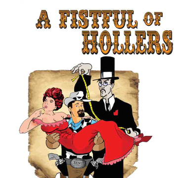"Artwork for Jest Murder Mystery Co. show ""Fistful of Hollers"""